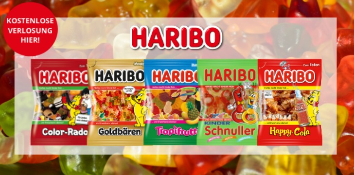 Haribo Suessigkeitenpaket gewinnen