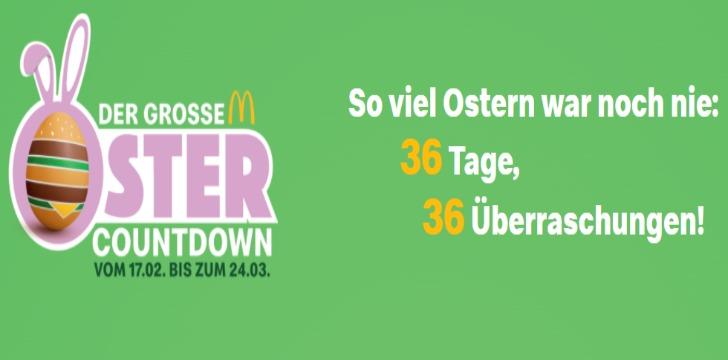 Mc Donald's Oster-Countdown Gewinnspiel