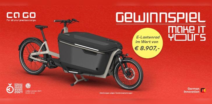 E-Lastenrad Gewinnspiel
