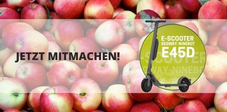 E-Scooter Gewinnspiel Elbe-Obst
