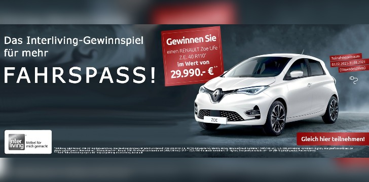 Interliving Renault Gewinnspiel