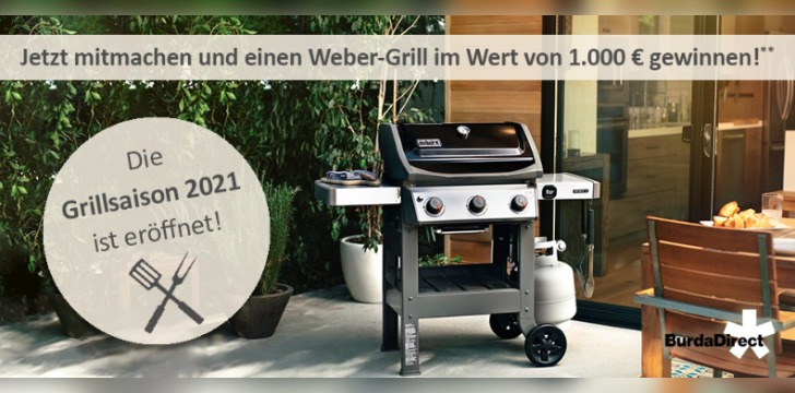 BurdaDirect Weber Grill Gewinnspiel