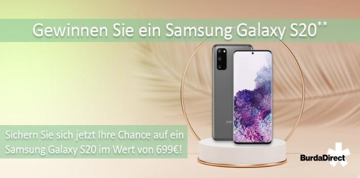 Samsung Galaxy S20 Gewinnspiel