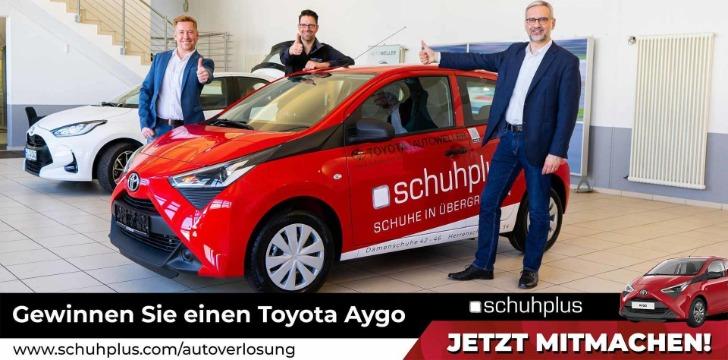 Schuhplus Toyota Autoverlosung