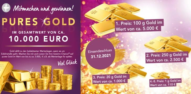 meyermode Gold Gewinnspiel